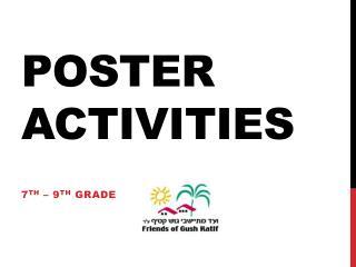 Poster Activities