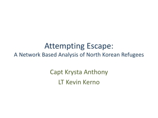 Attempting Escape: A Network Based Analysis of North Korean Refugees