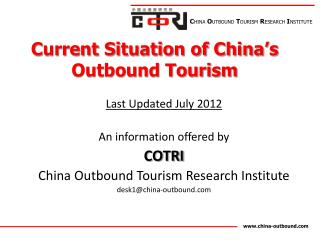 Current Situation of China�s Outbound Tourism