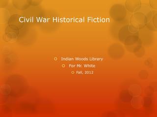 Civil War Historical Fiction