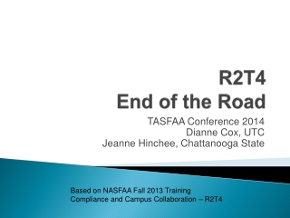 R2T4 End of the Road