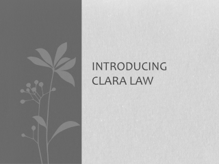 Introducing Clara  Law
