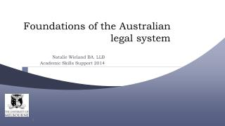 Foundations of the Australian legal system