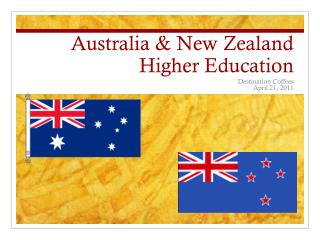 Australia & New Zealand Higher Education