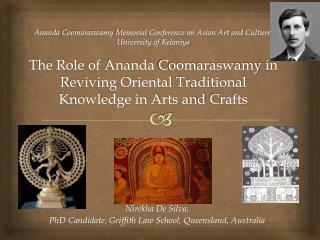 Nirekha De Silva,  PhD Candidate, Griffith Law School, Queensland, Australia
