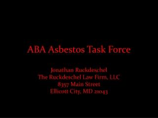 ABA Asbestos Task Force