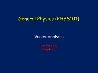 Vector analysis Lecture  06 Chapter 3