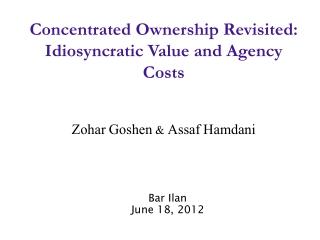 Bar Ilan June  18, 2012