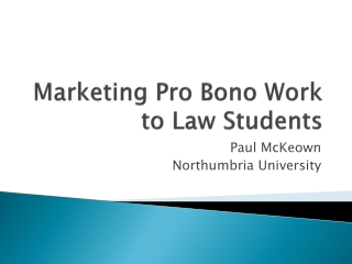 Marketing Pro Bono Work to Law Students
