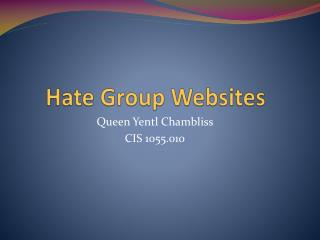Hate Group Websites