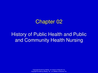 Chapter 02 History of Public Health and Public and Community Health Nursing