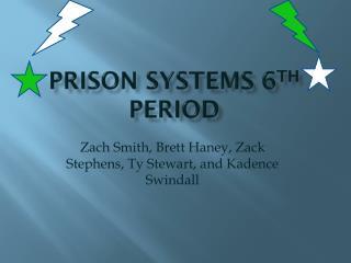 Prison Systems 6 th  period