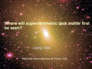 Where  will  supersymmetric  dark matter first be seen?