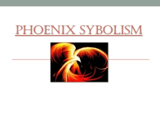 Phoenix  Sybolism