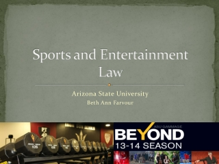 Sports and Entertainment Law