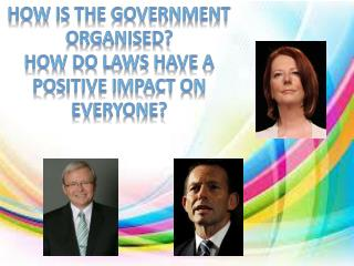 How is the government organised? How do laws have a positive impact on everyone?