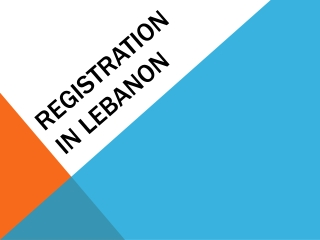 Registration in  lebanon