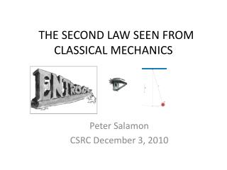 THE SECOND LAW SEEN FROM CLASSICAL MECHANICS