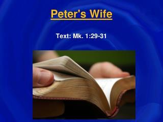 Peter's Wife