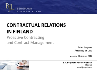 Contractual Relations in Finland