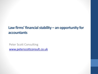 Law firms' financial stability – an opportunity for accountants