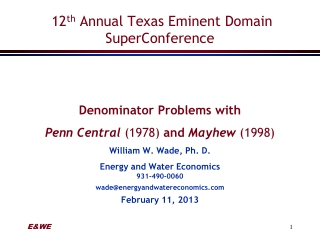 12 th  Annual Texas Eminent Domain  SuperConference