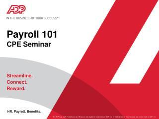 Payroll 101 CPE Seminar