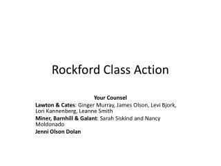 Rockford Class Action