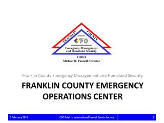 Franklin county EMERGENCY OPERATIONS CENTER