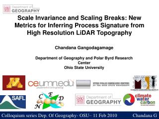 Scale Invariance and Scaling Breaks: New Metrics for Inferring Process Signature from High Resolution LiDAR Topography
