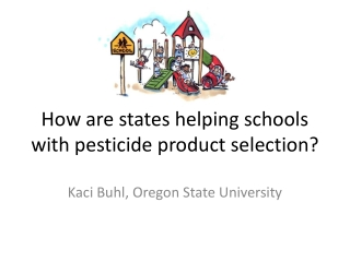 How are states helping schools with pesticide product selection?