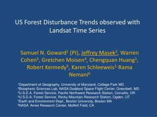 US Forest Disturbance Trends observed with Landsat Time Series