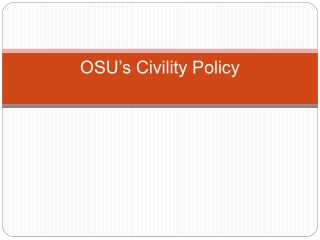 OSU's Civility Policy