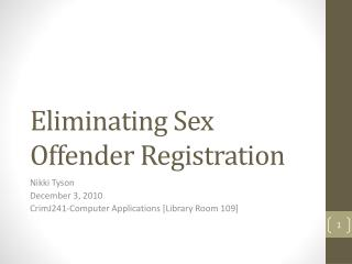 Eliminating Sex Offender Registration