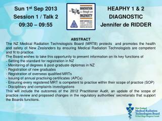 HEAPHY 1 & 2 DIAGNOSTIC Jennifer de RIDDER