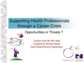 Supporting Health Professionals through a Career Crisis