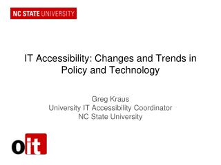 IT Accessibility: Changes and Trends in Policy and Technology