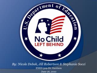 By: Nicole  Dobek , Jill Robertson & Stephanie  Socci EXED 509-Dr. Garrison June 26, 2010