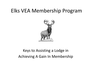 Elks VEA Membership Program