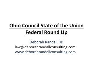 Ohio Council State of the Union Federal Round Up