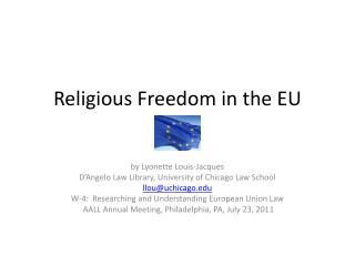 Religious Freedom in the EU