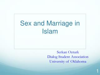 Sex and Marriage  in Islam