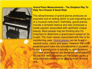 grand piano measurements - the simplest way to help you choo