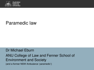 Paramedic law