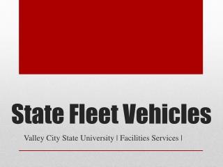 State Fleet Vehicles