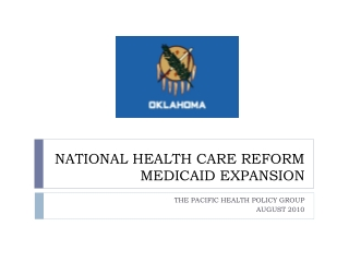 NATIONAL HEALTH CARE REFORM MEDICAID EXPANSION