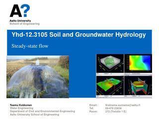 Yhd-12.3105  Soil  and  Groundwater Hydrology