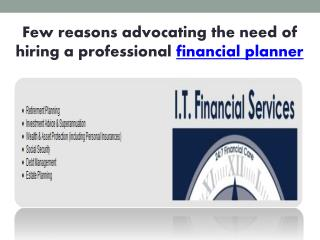 few reasons advocating the need of hiring a professional fin