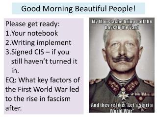 Good Morning Beautiful People!