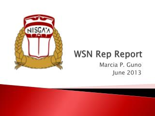 WSN Rep Report